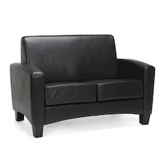 Traditional Armed Loveseat, Black
