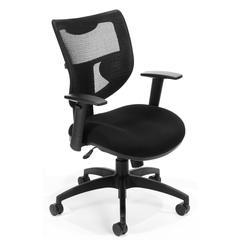OFM Parker Ridge Series Model 581 Mid-Back Mesh Executive Task Chair, Black