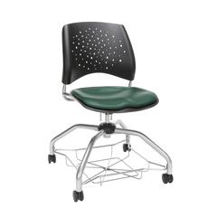 OFM Stars Foresee Series Chair with Removable Vinyl Seat Cushion - Student Chair, Teal (329-VAM)