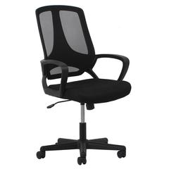 Essentials by OFM ESS-3040 Swivel Mesh High-Back Task Chair with Arms, Black