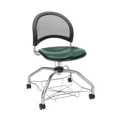 OFM Moon Foresee Series Chair with Removable Vinyl Seat Cushion - Student Chair, Teal (339-VAM)