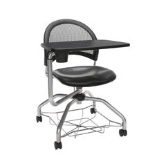 OFM Moon Foresee Series Tablet Chair with Removable Vinyl Seat Cushion - Student Desk Chair, Charcoal (339T-VAM)