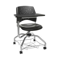 OFM Stars Foresee Series Tablet Chair with Removable Vinyl Seat Cushion - Student Desk Chair, Charcoal (329T-VAM)