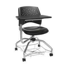 OFM Stars Foresee Series Tablet Chair with Removable Vinyl Seat Cushion - Student Desk Chair, Black (329T-VAM)