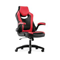 Sadie Racing Gaming Computer Chair- Flip-Up Arms, Black and Red Leather (HVST912)