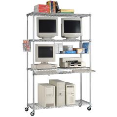 Heavy Duty Computer LAN Unit 48 x 18, Silver
