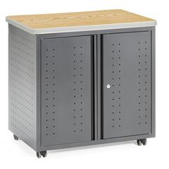 OFM Model 66746 WheeLocking Mobile Utility Station Cabinet with Laminate Top
