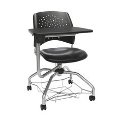 OFM Stars Foresee Series Tablet Chair with Removable Vinyl Seat Cushion - Student Desk Chair, Navy (329T-VAM)