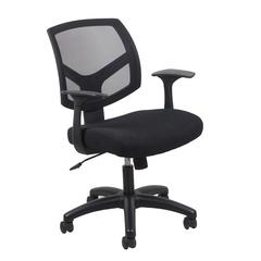 Essentials by OFM ESS-3030 Swivel Mesh Back Task Chair with Arms, Black