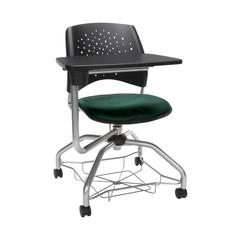 OFM Stars Foresee Series Tablet Chair with Removable Fabric Seat Cushion - Student Desk Chair, Forest Green (329T)