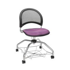 OFM Moon Foresee Series Chair with Removable Fabric Seat Cushion - Student Chair, Plum (339)