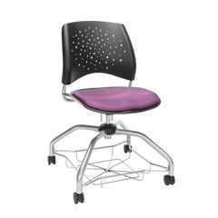 OFM Stars Foresee Series Chair with Removable Fabric Seat Cushion - Student Chair, Plum (329)