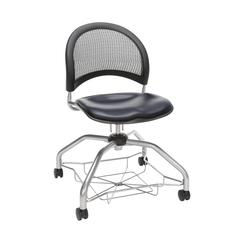 OFM Moon Foresee Series Chair with Removable Vinyl Seat Cushion - Student Chair, Navy (339-VAM)