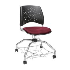 OFM Stars Foresee Series Chair with Removable Fabric Seat Cushion - Student Chair, Burgundy (329)