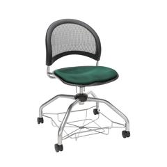 OFM Moon Foresee Series Chair with Removable Fabric Seat Cushion - Student Chair, Forest Green (339)