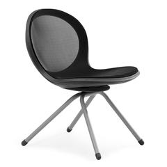OFM NET Series 4-Legged Chair, Black