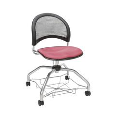 OFM Moon Foresee Series Chair with Removable Fabric Seat Cushion - Student Chair, Coral Pink (339)