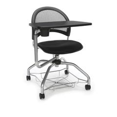 OFM Moon Foresee Series Tablet Chair with Removable Fabric Seat Cushion - Student Desk Chair, Black (339T)