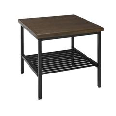 The OFM 161 Collection Industrial Modern Wood Top/Metal Frame Side Table with Metal Shelf provides industrial modern styling with multi-application functionality perfect for living rooms, bedrooms, re