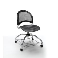 OFM Moon Foresee Series Chair with Removable Plastic Seat Cushion - Student Chair, Black (339-P)