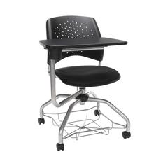 OFM Stars Foresee Series Tablet Chair with Removable Fabric Seat Cushion - Student Desk Chair, Black (329T)