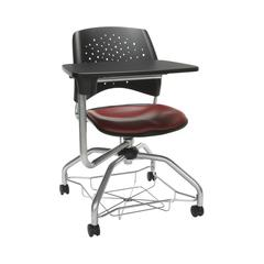 OFM Stars Foresee Series Tablet Chair with Removable Vinyl Seat Cushion - Student Desk Chair, Wine (329T-VAM)