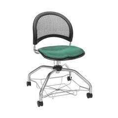 OFM Moon Foresee Series Chair with Removable Fabric Seat Cushion - Student Chair, Shamrock Green (339)