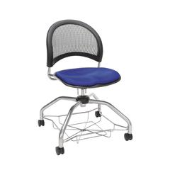 OFM Moon Foresee Series Chair with Removable Fabric Seat Cushion - Student Chair, Royal Blue (339)