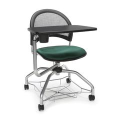 OFM Moon Foresee Series Tablet Chair with Removable Fabric Seat Cushion - Student Desk Chair, Forest Green (339T)
