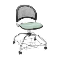 OFM Moon Foresee Series Chair with Removable Fabric Seat Cushion - Student Chair, Sage Green (339)
