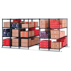 "X5 Lite 5-Unit Complete Sliding Shelf Storage System, 48"" x 24"""