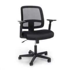 OFM Essentials Collection Mesh Back Chair with Adjustable Arms, Black (E3035)
