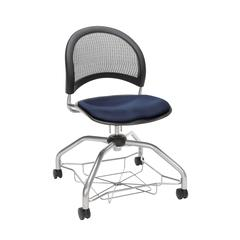 OFM Moon Foresee Series Chair with Removable Fabric Seat Cushion - Student Chair, Navy (339)