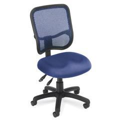 OFM Comfort Series Model 130 Ergonomic Mesh Swivel Armless Task Chair, Mid Back, Navy