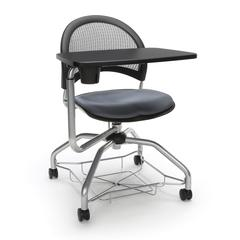 OFM Moon Foresee Series Tablet Chair with Removable Fabric Seat Cushion - Student Desk Chair, Slate Gray (339T)