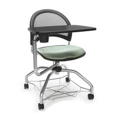 OFM Moon Foresee Series Tablet Chair with Removable Fabric Seat Cushion - Student Desk Chair, Sage Green (339T)
