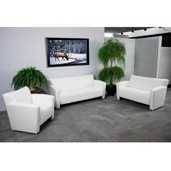 Flash Furniture HERCULES Majesty Series Reception Set in White