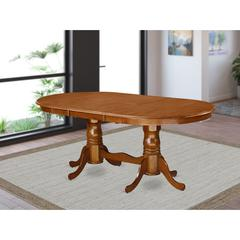"Plainville    Table  with  18""  butterfly  Leaf  -Saddle  Brown"