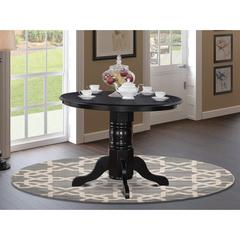 "Shelton  Round    Kitchen  Table  42""  Diameter  In  Black  Finish"