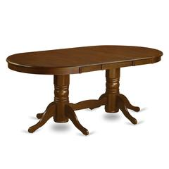 "Vancouver  Oval  Double  Pedestal  dining  room  Table  with  17""  Butterfly  Leaf  in  Espresso  Finish"