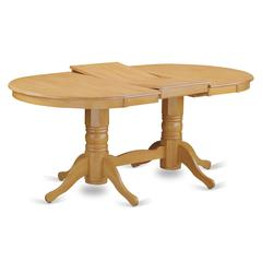 Vancouver  rectangular  round  corner  dining    table  with  17  in  self  storage  leaf  finish  in  Oak