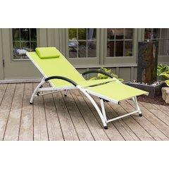 Dockside Sun Lounger - Aluminum(Green Apple)