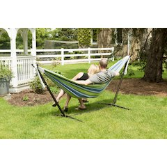 Vivere's Combo - Double Oasis Hammock with Stand (9ft)