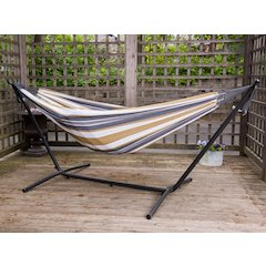 Vivere's Combo - Double Desert Moon Hammock with Stand (9ft)