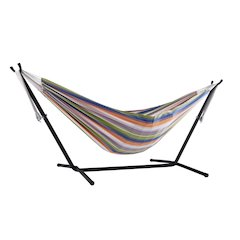 Vivere's Combo - Double Pumpkin Spice Hammock with Stand (9ft)