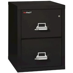"2 Drawer Letter Size Filling Cabinet,  25"" depth, Black"