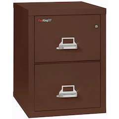 "2 Drawer Letter Size Filling Cabinet,  25"" depth, Brown"