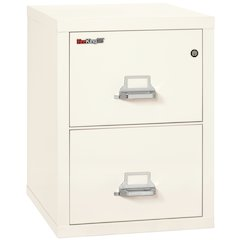 "2 Drawer Letter Size Filling Cabinet,  25"" depth, Ivory White"