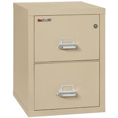 "2 Drawer Letter Size Filling Cabinet,  25"" depth, Parchment"