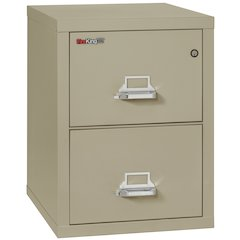 "2 Drawer Letter Size Filling Cabinet,  25"" depth, Pewter"